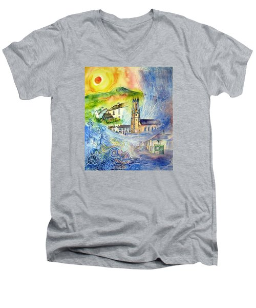 Hacketstown- Aide Memoire  Men's V-Neck T-Shirt by Trudi Doyle