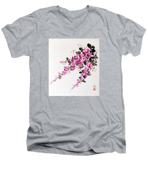 Hagi / Bush Clover Men's V-Neck T-Shirt