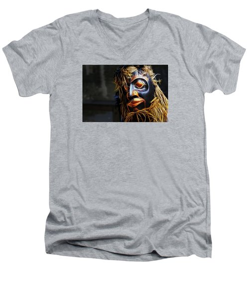 Men's V-Neck T-Shirt featuring the photograph Haida Head by Cameron Wood