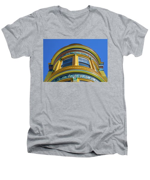 Haight Ashbury Painted Victorian Men's V-Neck T-Shirt