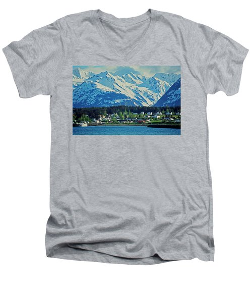 Haines - Alaska Men's V-Neck T-Shirt