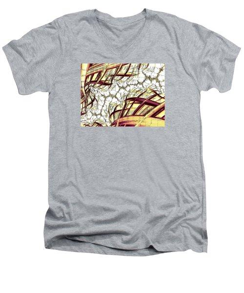 Hairline Fracture Men's V-Neck T-Shirt