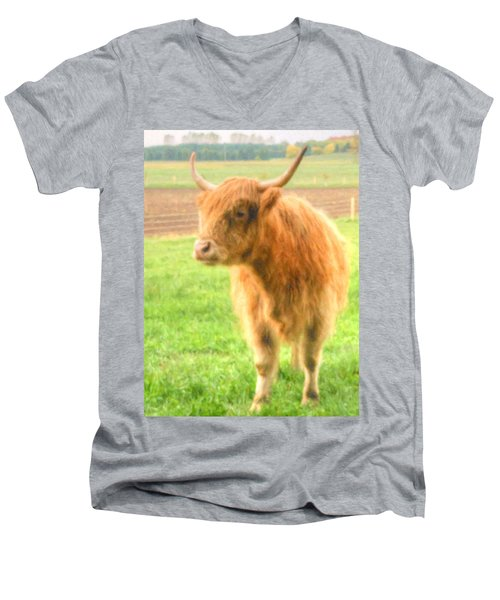 Hairy Coos Men's V-Neck T-Shirt