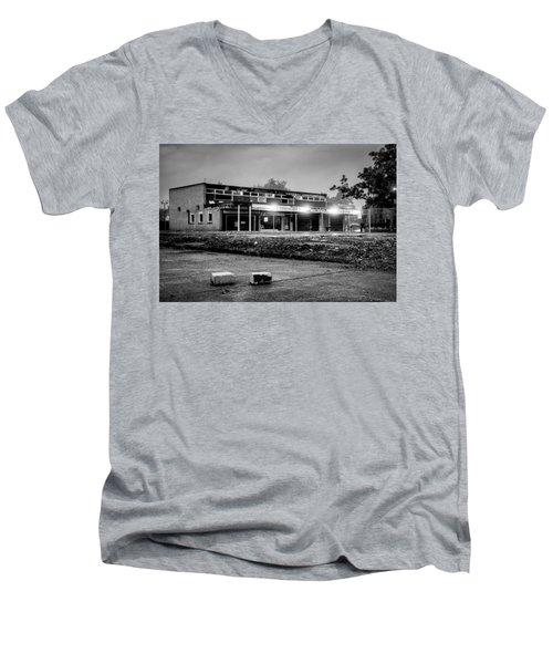 Hale Barns Square - Demolition In Progress Men's V-Neck T-Shirt