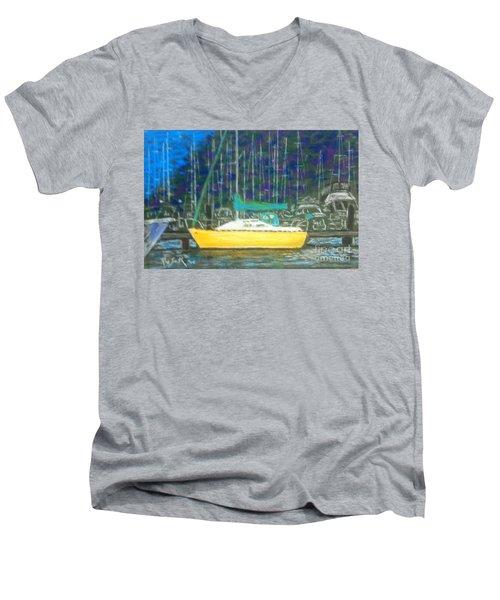 Hale Pau Hana Men's V-Neck T-Shirt by Rae  Smith PSA