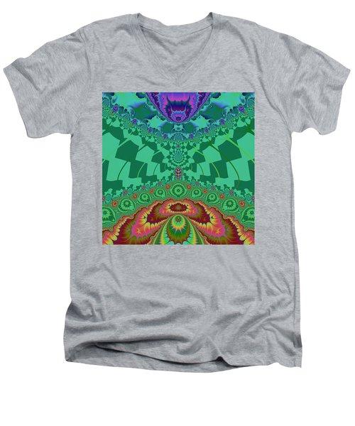 Halernewid Men's V-Neck T-Shirt