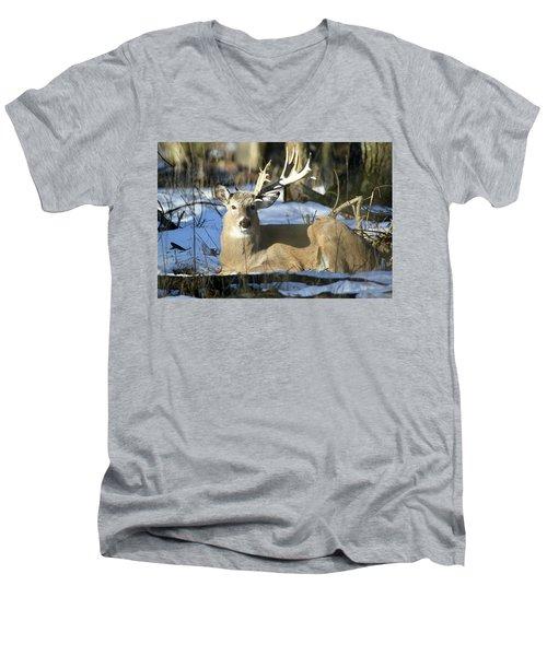Half A Monster Men's V-Neck T-Shirt