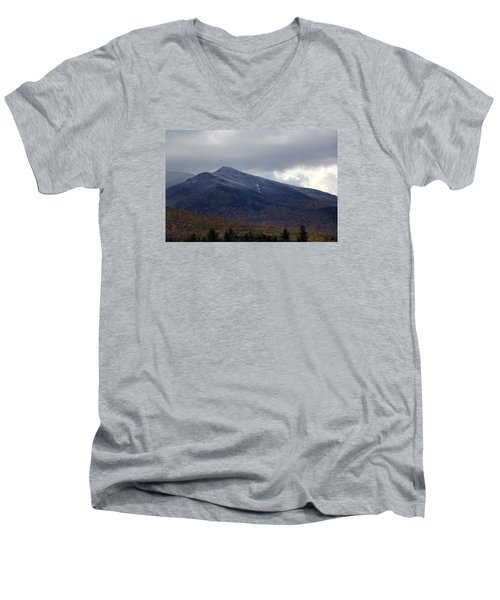 Half And Half Men's V-Neck T-Shirt