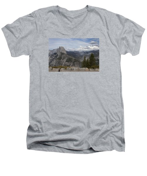 Half Dome Men's V-Neck T-Shirt by Ivete Basso Photography