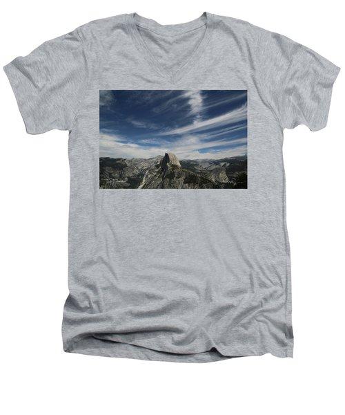 Half Dome Sky Men's V-Neck T-Shirt