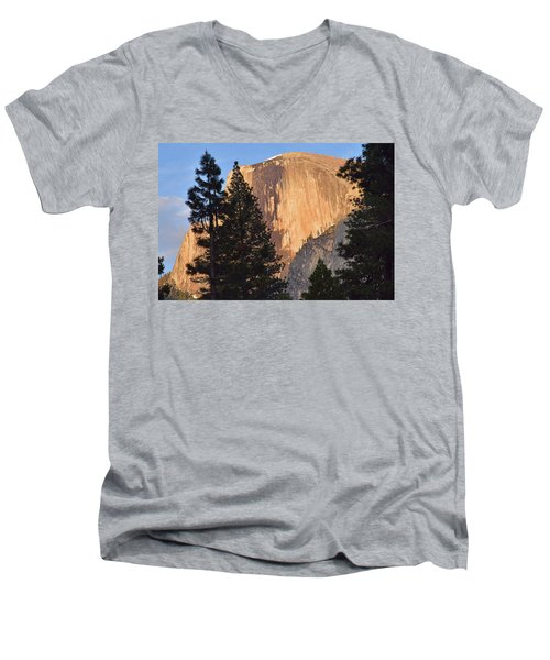 Half Dome Sunset Men's V-Neck T-Shirt