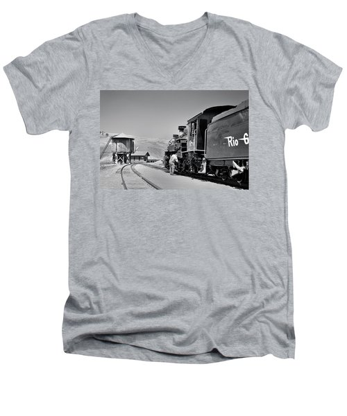 Half Way Men's V-Neck T-Shirt