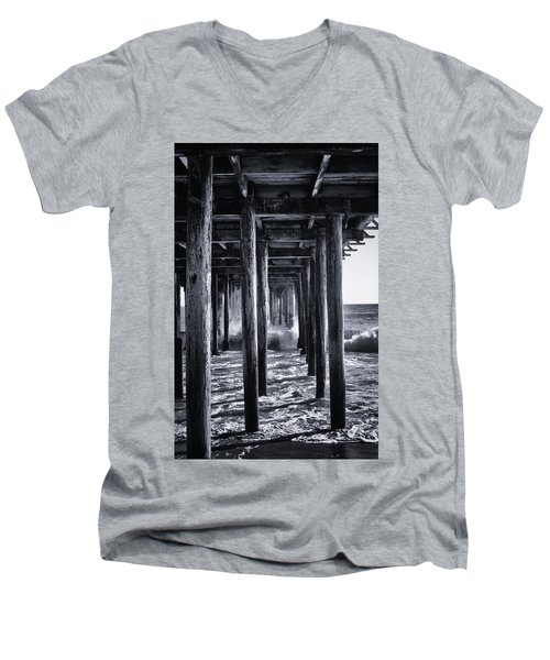 Men's V-Neck T-Shirt featuring the photograph Hall Of Mirrors by Lora Lee Chapman