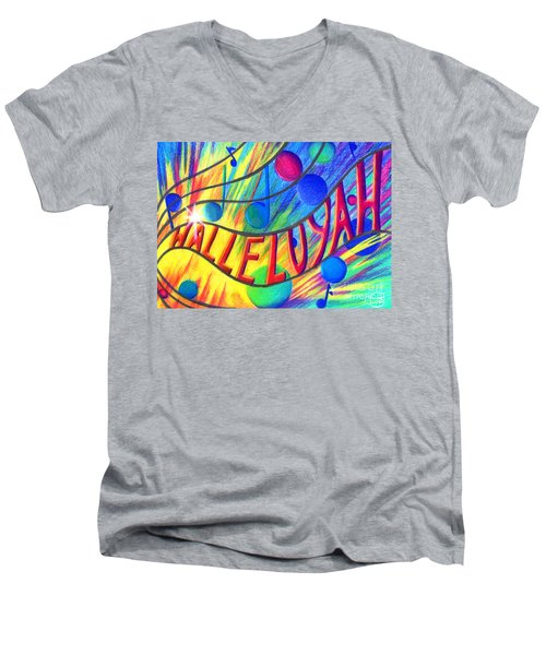 Halleluyah Men's V-Neck T-Shirt