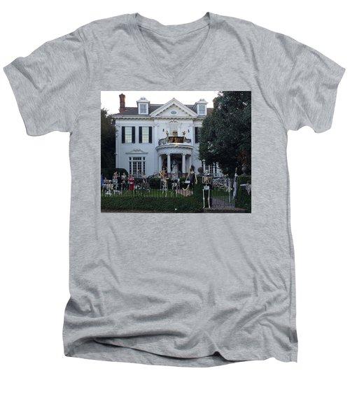 Halloween Decor New Orleans Style Men's V-Neck T-Shirt
