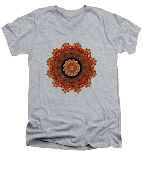 Halloween Kaleidoscope Sliver2-235 Men's V-Neck T-Shirt
