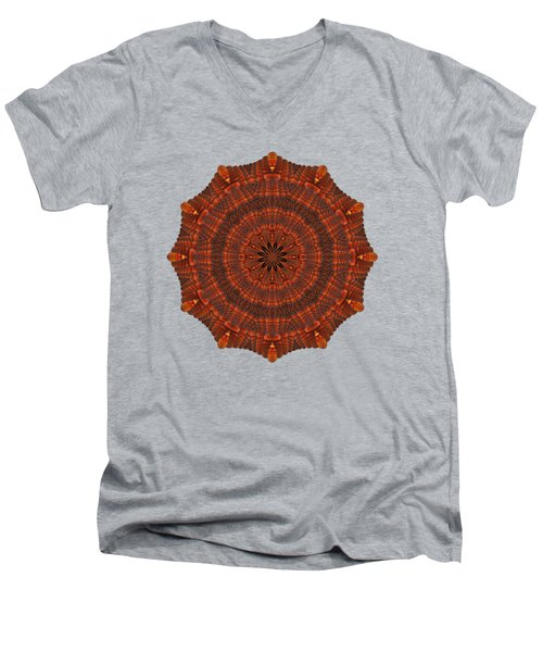 Halloween Kaleidoscope Sliver1-150 Men's V-Neck T-Shirt
