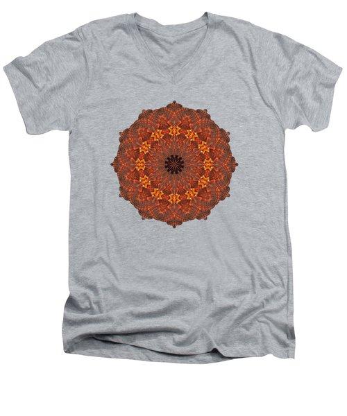 Halloween Kaleidoscope Sliver1-285 Men's V-Neck T-Shirt