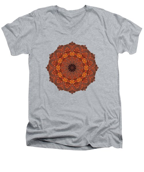 Halloween Kaleidoscope Sliver1-285 Men's V-Neck T-Shirt