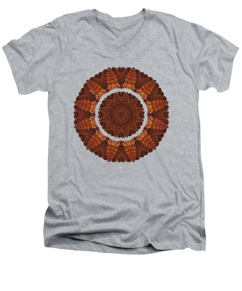 Halloween Kaleidoscope Sliver1-75 Men's V-Neck T-Shirt