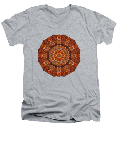 Halloween Kaleidoscope Sliver2-90 Men's V-Neck T-Shirt