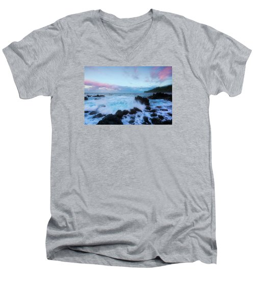 Men's V-Neck T-Shirt featuring the photograph Hamakua Sunset by Ryan Manuel