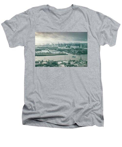 Hamburg Port  Men's V-Neck T-Shirt