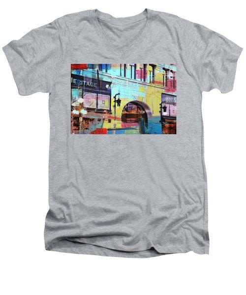 Men's V-Neck T-Shirt featuring the photograph Hamm Building St. Paul by Susan Stone