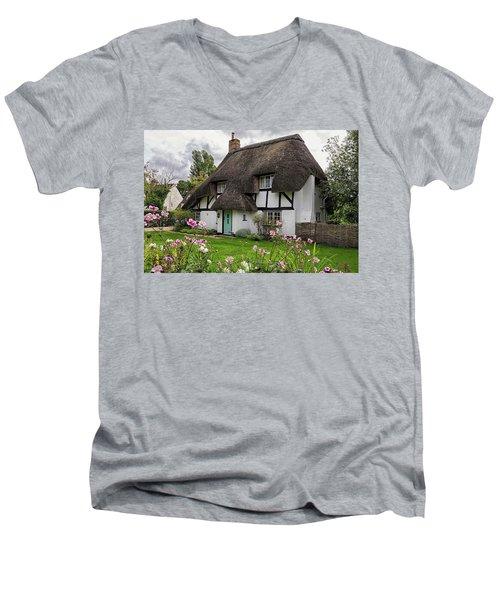 Hampshire Thatched Cottages 8 Men's V-Neck T-Shirt