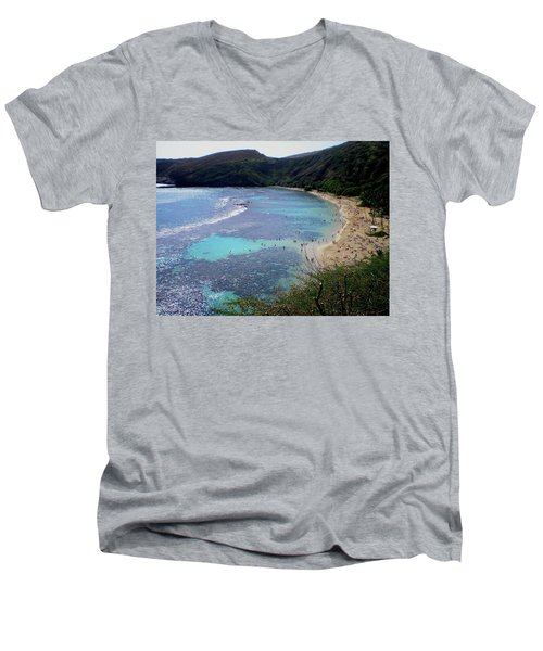 Hanauma Bay Men's V-Neck T-Shirt