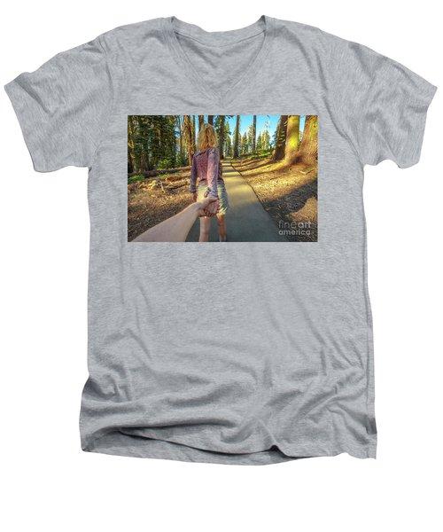 Hand In Hand Sequoia Hiking Men's V-Neck T-Shirt