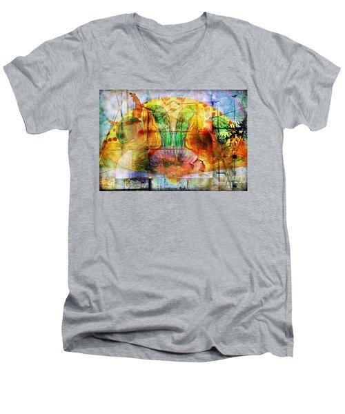 Handheld Fan Men's V-Neck T-Shirt