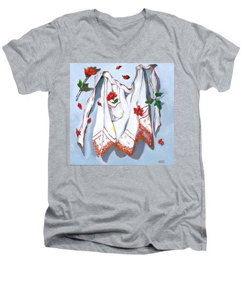 Handkerchief Apron Men's V-Neck T-Shirt