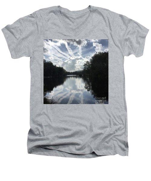 Handsome Cloud Men's V-Neck T-Shirt by Jason Nicholas