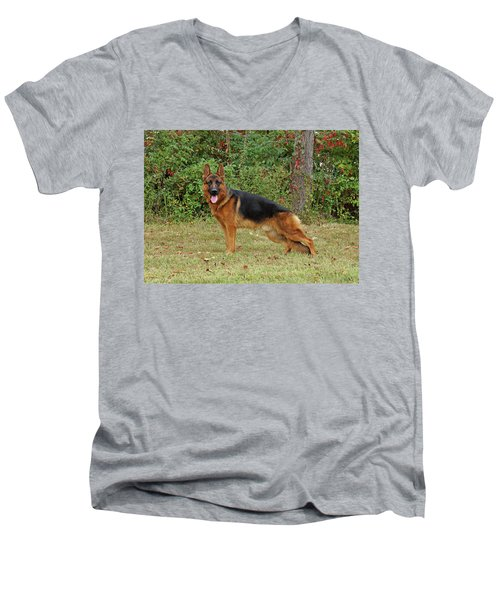 Men's V-Neck T-Shirt featuring the photograph Handsome Rocco by Sandy Keeton