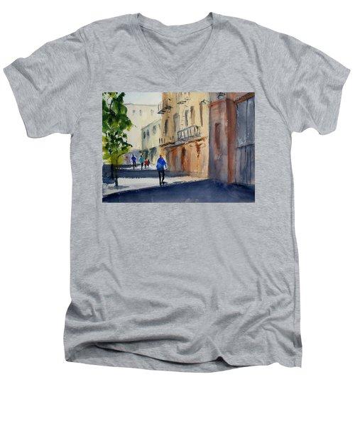 Hang Ah Alley Men's V-Neck T-Shirt by Tom Simmons
