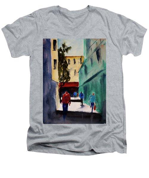 Hang Ah Alley1 Men's V-Neck T-Shirt by Tom Simmons