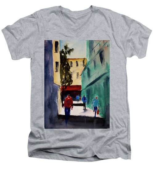 Hang Ah Alley1 Men's V-Neck T-Shirt