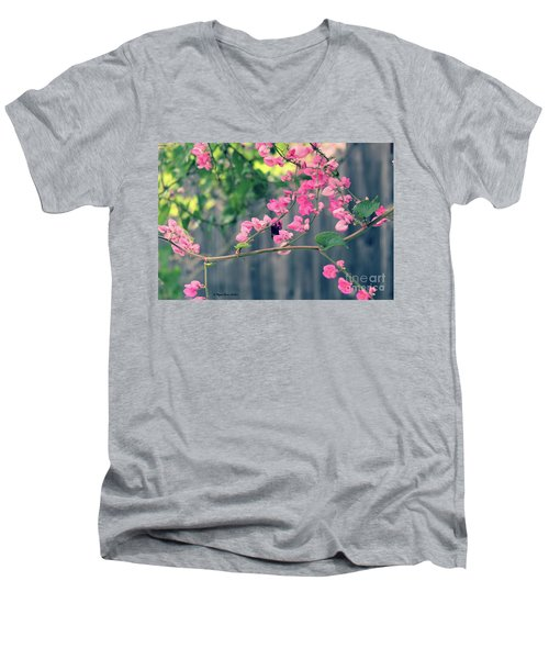Men's V-Neck T-Shirt featuring the photograph Hang On by Megan Dirsa-DuBois