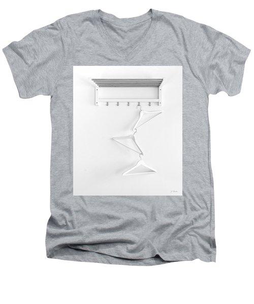 Men's V-Neck T-Shirt featuring the photograph Hangers No. 2 by Joe Bonita