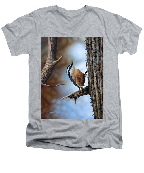 Hangin Out - Nuthatch Men's V-Neck T-Shirt