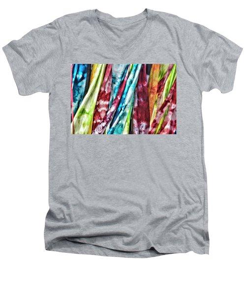 Hanging Color Men's V-Neck T-Shirt