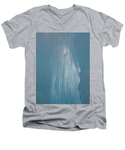 Hanging Icicles Men's V-Neck T-Shirt by Catherine Gagne