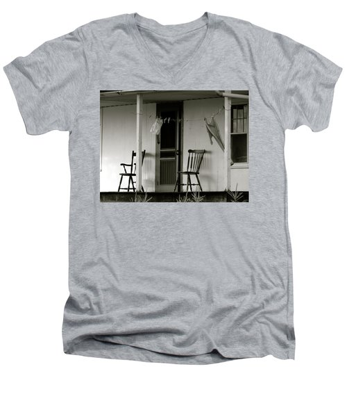Hanging Out On The Porch Men's V-Neck T-Shirt