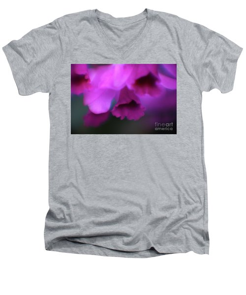 Hanging Purple Tropical Flowers Up Close- Kauai- Hawaii Men's V-Neck T-Shirt