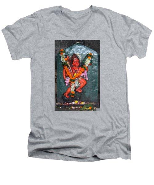 Hanuman Ji, Somewhere Near Ganeshpuri Men's V-Neck T-Shirt