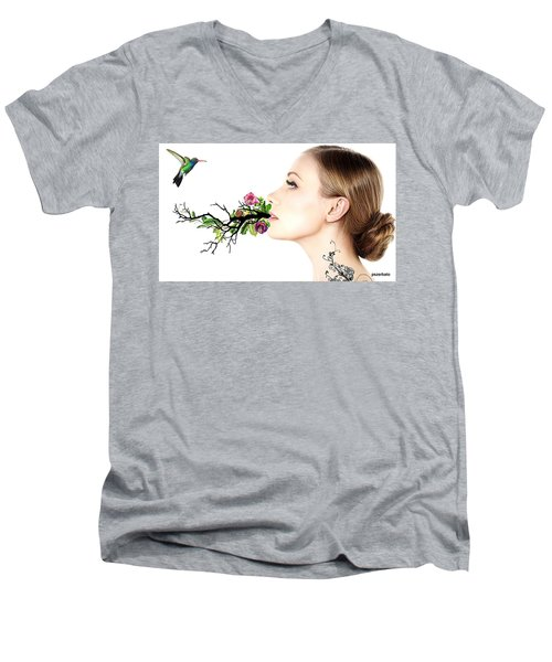 Happiness Is A State Of Mind Men's V-Neck T-Shirt