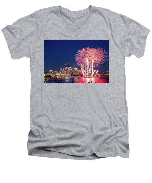 Happy 4th  Men's V-Neck T-Shirt
