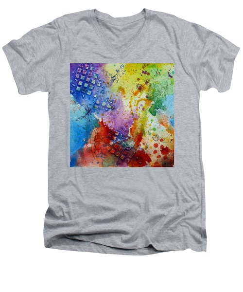 Happy Accidents Men's V-Neck T-Shirt by Tracy Bonin