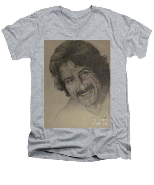 Happy Men's V-Neck T-Shirt by Annemeet Hasidi- van der Leij